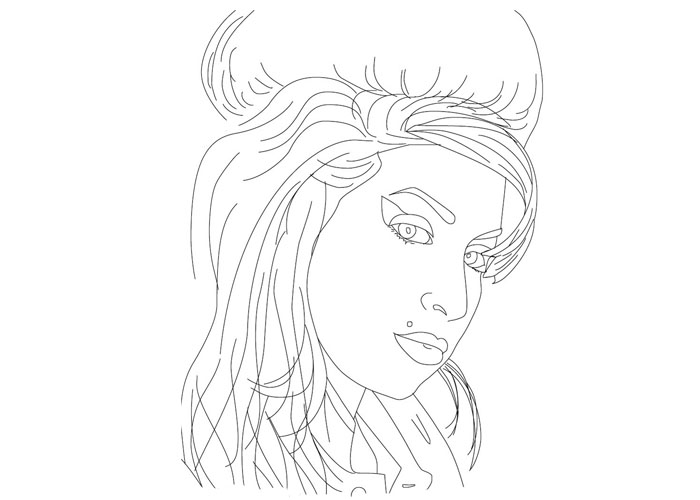 amy winehouse coloring pages